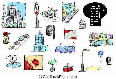 City color sketch