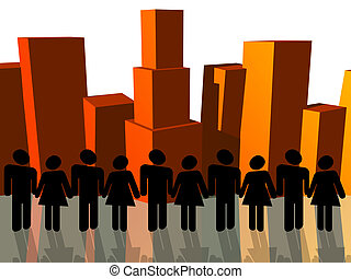 City Conection - people gathering as a community