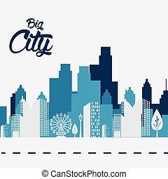 City design. - City design over white background, vector...