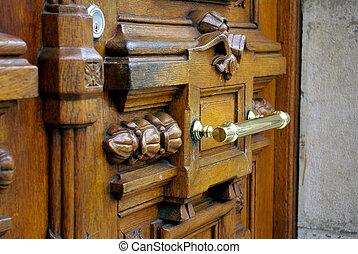 city door - old building door detail