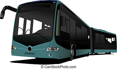 City double bus. Vector illustration