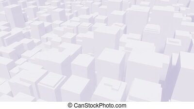 City downtown abstract 3d background seamless loop