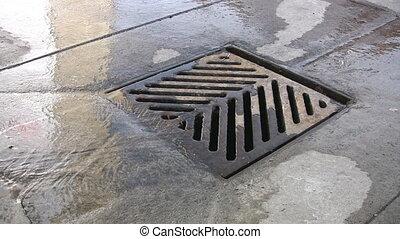 City drain.