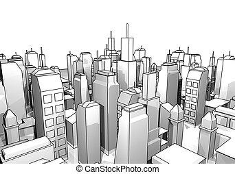 city draw - Creative design of city draw