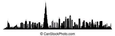 City Dubai skyline. UAE cityscape United Arab Emirates urban view
