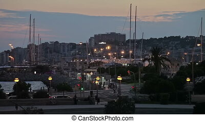 embankment, yacht parking Palma de Mallorca - City...