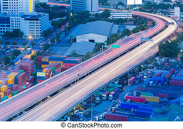 City express highway curved