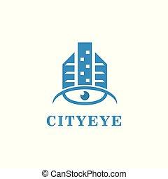City eye. Vector logo template