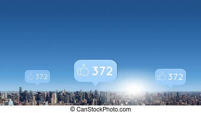 City filled with likes 4k