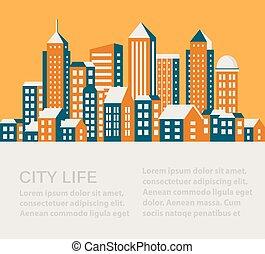 City flat style