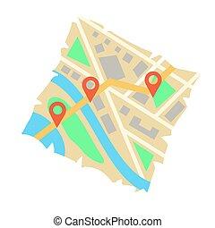 City folded map