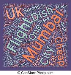 City For The Hungry Mumbai text background wordcloud concept