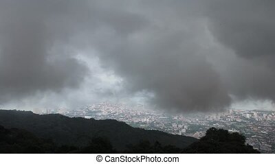 City from Penang Hill Timelapse - Cityscape from Penang Hill...