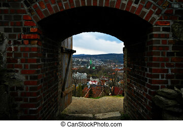 City Gate - A gate to the Kristiansten fortress in Trondheim...
