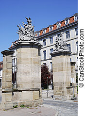 City Gate - City gate in in front of the Residenz in Ansbach