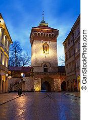 City gate in Krakow.