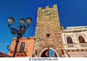 City gate in Taormina, Sicily
