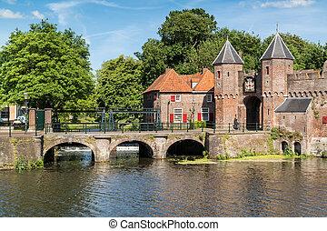 City gate Koppelpoort in Amersfoort, Netherlands - Medieval ...