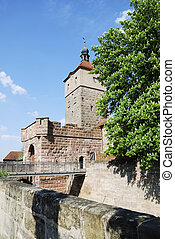 City gate - Medieval city gate in Wolframs-Eschenbach (...
