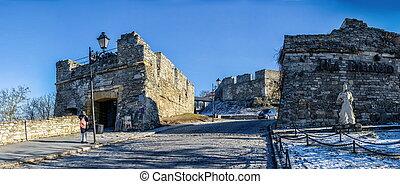 City gate of Kamianets-Podilskyi, Ukraine - Kamianets-...
