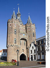 City Gate of Zwolle, Holland - Sassenpoort, the city gate of...