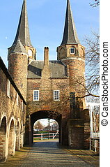 """City gate """"Oostpoort"""" from the 14th century in the city ofv ..."""