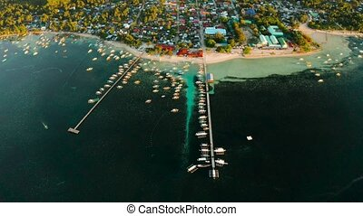 City General Luna on the coast of Siargao island. - City...
