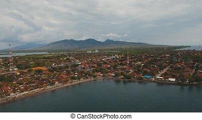 City Gilimanuk. Bali,Indonesia. - Aerial view city Gilimanuk...