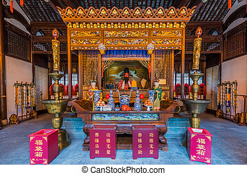 city god temple Chenghuang Miao shanghai china