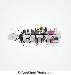 City graffiti vactor illustration