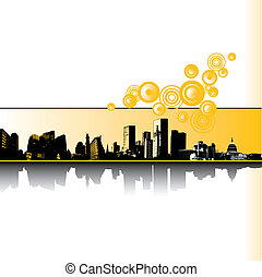 City Grunge vector background