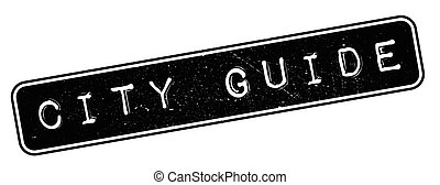City Guide rubber stamp