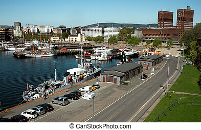 City Hall and the harbour in Oslo