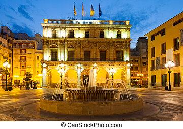 City Hall at  Castellon de la Plana in night