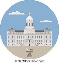 City hall. Baltimore, USA - Baltimore City Hall is the...
