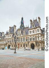 City Hall building (Hotel de Ville) in Paris