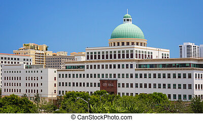 City Hall Building in West Palm Beach, Florida
