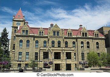 city hall calgary - The old stone city hall in Calgary.