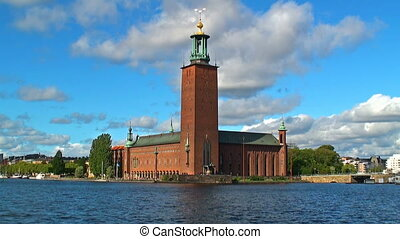 City Hall castle in Stockholm - Scenic summer view of the...