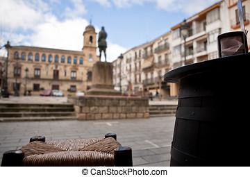 City hall from typical bar, Alcala de la Real, Spain