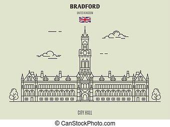 City Hall in Bradford, UK. Landmark icon