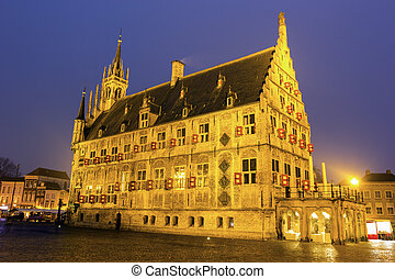 City Hall in Gouda. Gouda, South Holland, Netherlands.