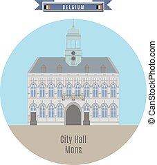 City Hall, Mons, Belgium