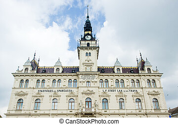city hall of Laa an der Thaya, Lower Austria, Austria