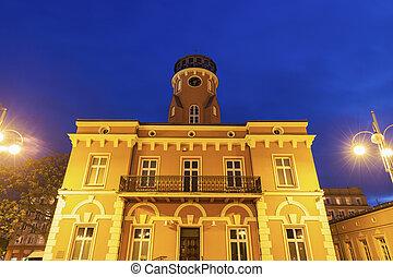 City Hall on Bieganski Square in Czestochowa