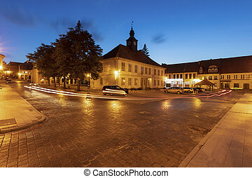 City hall on main square in Reszel