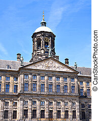 City hall or town hall of Amsterdam