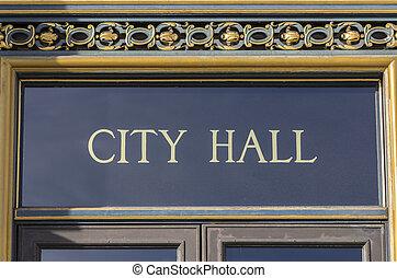 City Hall Sign San Francisco CA