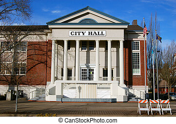 City Hall - This building of the local city hall was taken...