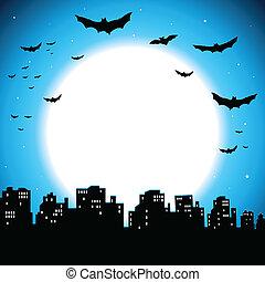 City Halloween Background